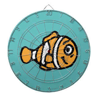 Finding Dory | Marlin Cartoon Dartboard With Darts