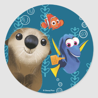 Finding Dory | Nemo, Dory & Otter Round Sticker