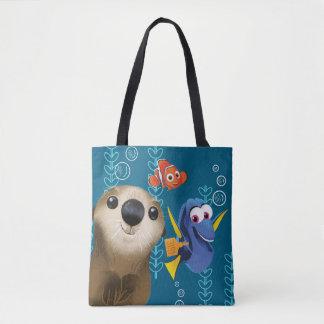 Finding Dory   Nemo, Dory & Otter Tote Bag