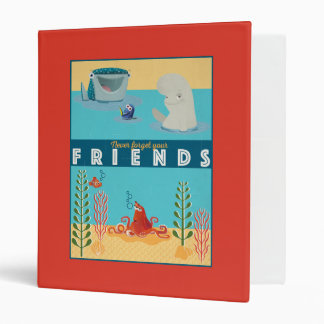Finding Dory   Never Forget Your Friends 3 Ring Binder