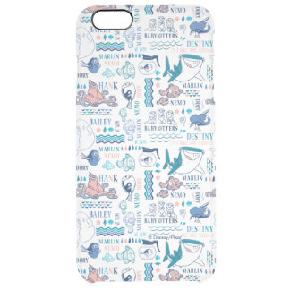 Finding Dory Pastel Pattern Clear iPhone 6 Plus Case