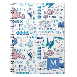 Finding Dory Pastel Pattern Spiral Note Book