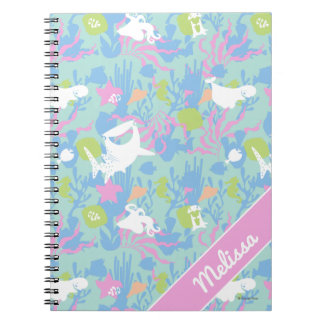 Finding Dory Pastel Sea Pattern Spiral Note Book