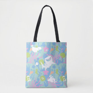 Finding Dory Pastel Sea Pattern Tote Bag