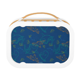 Finding Dory Sketch Navy Pattern Lunch Box
