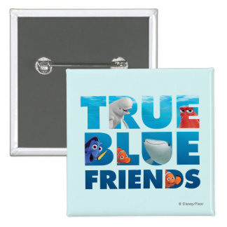 Finding Dory | True Blue Friends 2 Inch Square Button