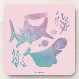 Finding Dory Watercolor Graphic Drink Coaster