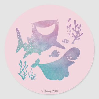Finding Dory Watercolor Graphic Round Sticker
