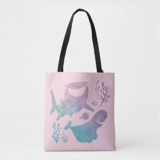 Finding Dory Watercolor Graphic Tote Bag