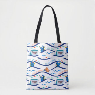 Finding Dory Wave Pattern Tote Bag
