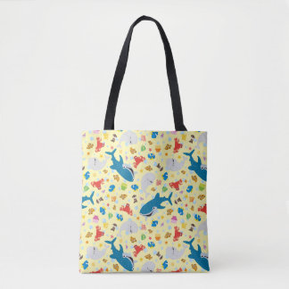 Finding Dory Yellow Pattern Tote Bag