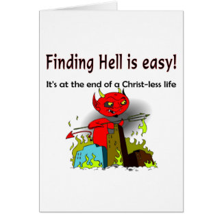 Finding Hell is easy Card