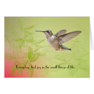 Finding Joy in Small Things Hummingbird Card