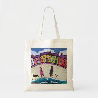 finding love on the beach by Helen Elliott Tote Bag