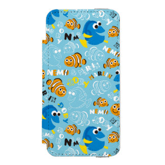 Finding Nemo | Dory and Nemo Pattern Incipio Watson™ iPhone 5 Wallet Case