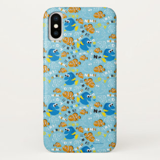 Finding Nemo   Dory and Nemo Pattern iPhone X Case