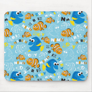 Finding Nemo | Dory and Nemo Pattern Mouse Pad
