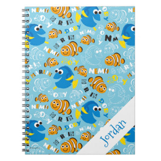 Finding Nemo | Dory and Nemo Pattern Spiral Note Book