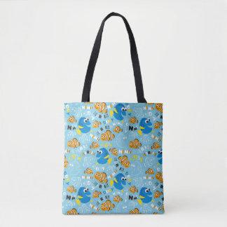 Finding Nemo   Dory and Nemo Pattern Tote Bag