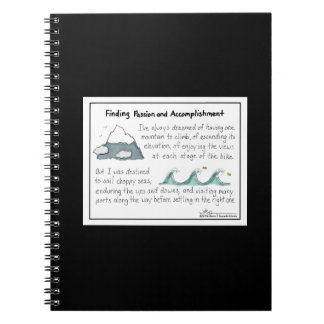 Finding Passion and Accomplishment Black Notebook