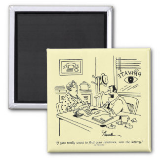 Finding Relatives Square Magnet