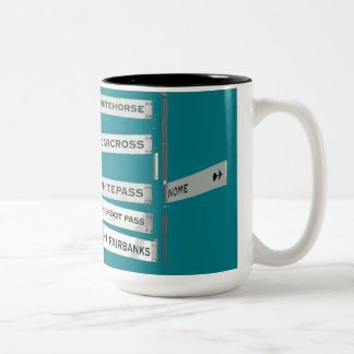 Finding your way in Alaska Two-Tone Coffee Mug
