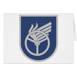Findland Military Patch Greeting Card