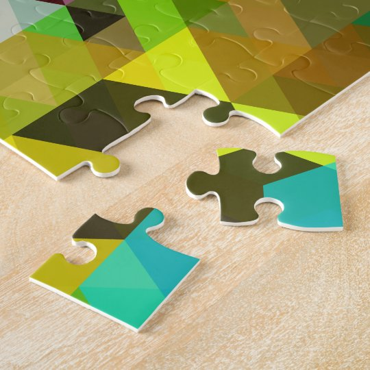 Fine Abstract Cool Cute Girly Retro Fashion Jigsaw Puzzle