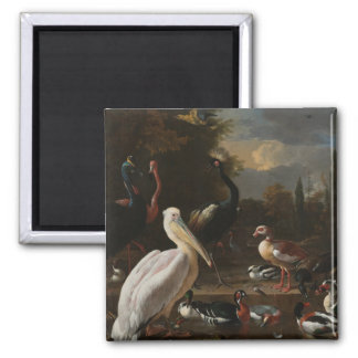 Fine art birds square magnet