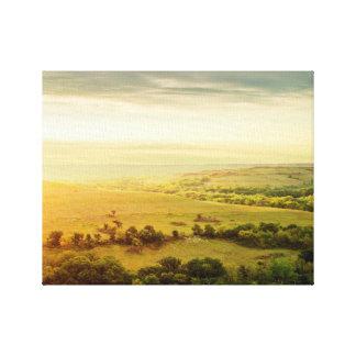 Fine Art Canvas Print - Kansas Flint Hills