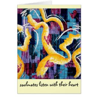 Fine Art Card 'soulmates' - Augustine