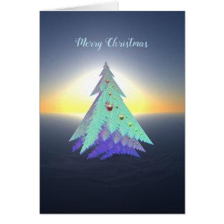 Fine Art Christmas Card with Designer Tree