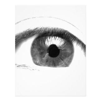Fine art Eye View Face Custom Letterhead