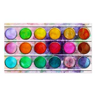 Fine Art Fun Colorful Paint Color Box Business Card Templates