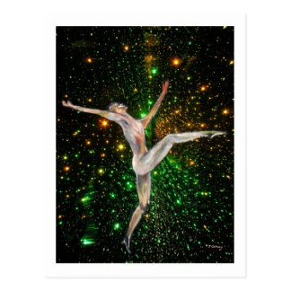 fine art,  gymnastics, dance & stars by TJ Conway Postcard