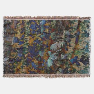 Fine Art Leaves Throw Blanket