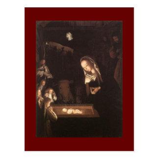 Fine Art Nativity Scene Painting Postcard