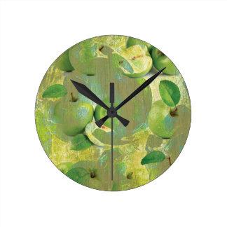 Fine Art of The Sense of Green Life! Round Clock