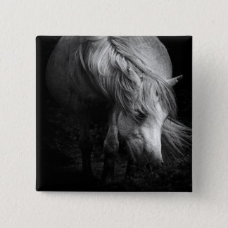 Fine Art Pony Head and Mane button / badge