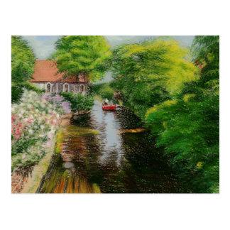 Fine Art Postcard- Stour River Canterbury, pastel Postcard