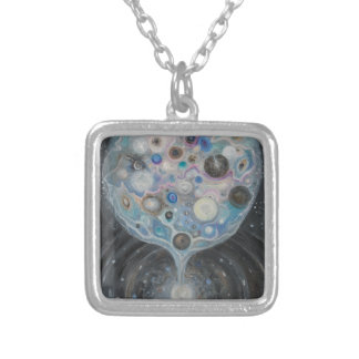 Fine Art Print Silver Plated Necklace