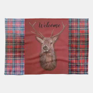 Fine Art red Deer Stag Kitchen Towel