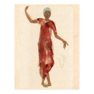 Fine Art ~ Rodin's Cambodia Dancer c1906 Postcard