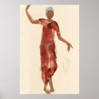 Fine Art ~ Rodin's Cambodia Dancer c1906 Poster