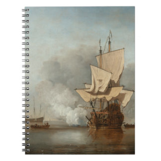 Fine art seascape velde spiral note books