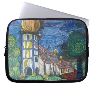 fine art sleeve inspired by Hundertwasser Computer Sleeve