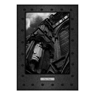 Fine Art, The Cleric, riveted steel frame effect Poster