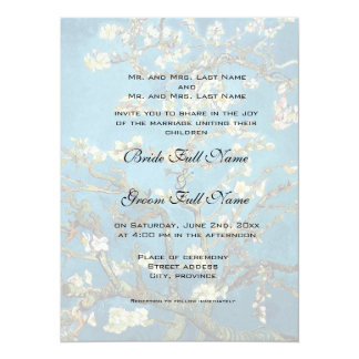 Fine art wedding invitation