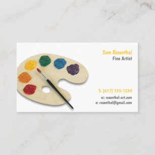Fine artist business cards business card printing zazzle ca fine artist professional business card colourmoves