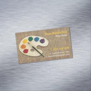 Fine artist business cards profile cards zazzle ca fine artist professional magnetic business card colourmoves